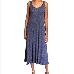 Rachel Pally White Label Fiona Blue Rib Midi Dress